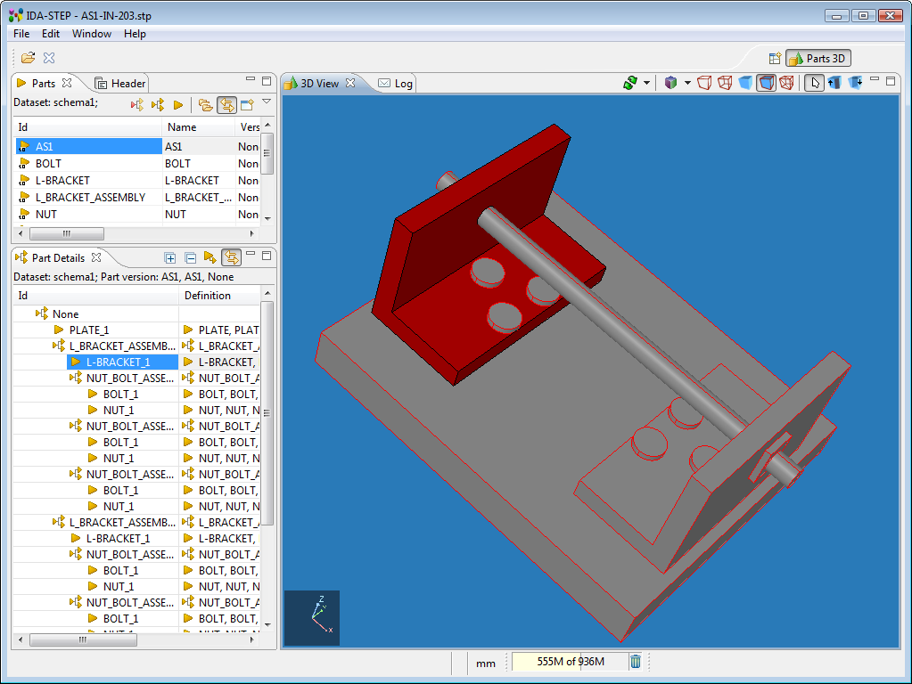 Viewer basic ida step 3d model editor